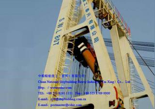 80T  A-frame Floating Crane